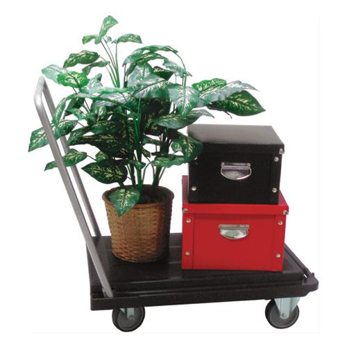 Heavy-Duty Platform Cart, 500 lb Capacity, 21 x 32.5 x 37.5, Black. Picture 10