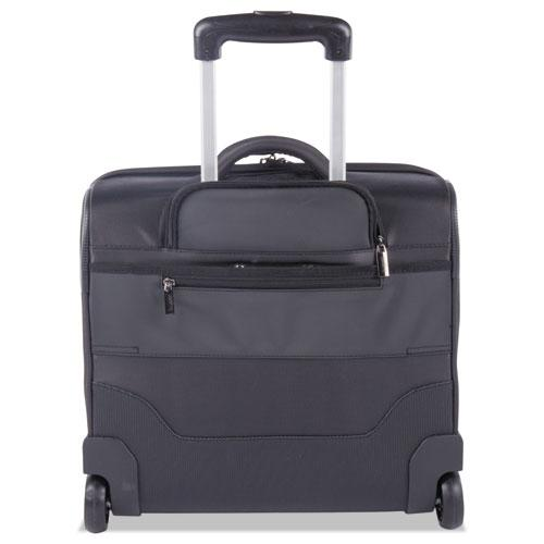 """Harry Slim Business Case on Wheels, 15"""" x 4.75"""" x 13.75"""", Polyester, Gray"""