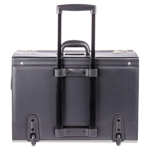 Rolling Catalog Case, 21 3/4 x 15 1/2 x 9 3/4, Black. Picture 4