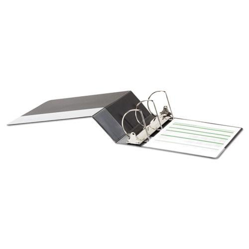 """Deluxe Non-View D-Ring Binder with Label Holder, 3 Rings, 4"""" Capacity, 11 x 8.5, Black. Picture 3"""