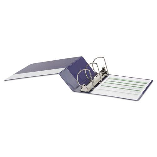 """Deluxe Non-View D-Ring Binder with Label Holder, 3 Rings, 4"""" Capacity, 11 x 8.5, Navy Blue. Picture 3"""