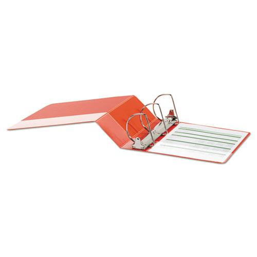 """Deluxe Non-View D-Ring Binder with Label Holder, 3 Rings, 4"""" Capacity, 11 x 8.5, Red. Picture 3"""
