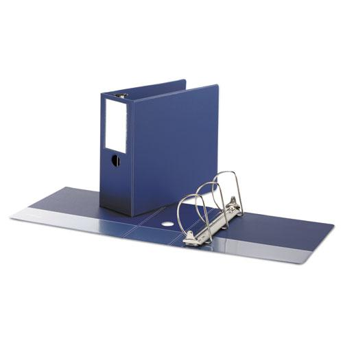 """Deluxe Non-View D-Ring Binder with Label Holder, 3 Rings, 5"""" Capacity, 11 x 8.5, Royal Blue. Picture 2"""