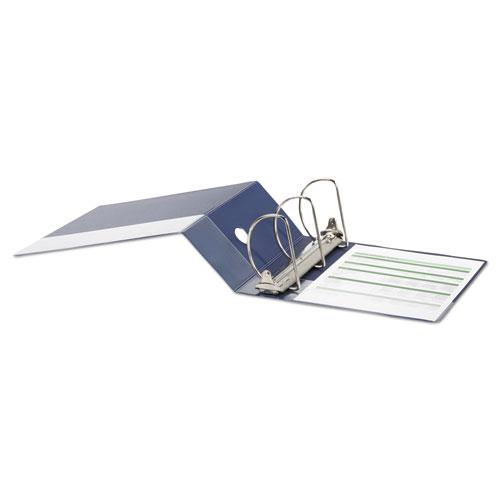 """Deluxe Non-View D-Ring Binder with Label Holder, 3 Rings, 5"""" Capacity, 11 x 8.5, Royal Blue. Picture 3"""