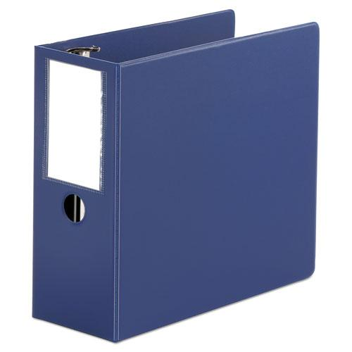 """Deluxe Non-View D-Ring Binder with Label Holder, 3 Rings, 5"""" Capacity, 11 x 8.5, Royal Blue. Picture 1"""