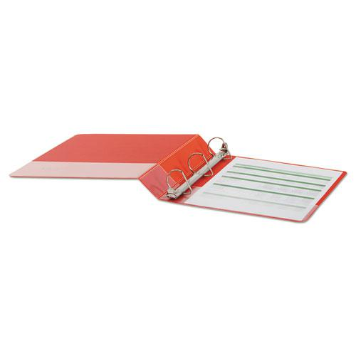"""Deluxe Non-View D-Ring Binder with Label Holder, 3 Rings, 1.5"""" Capacity, 11 x 8.5, Red. Picture 3"""