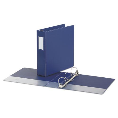"""Deluxe Non-View D-Ring Binder with Label Holder, 3 Rings, 2"""" Capacity, 11 x 8.5, Royal Blue. Picture 2"""