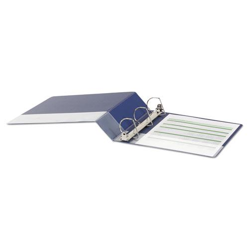 """Deluxe Non-View D-Ring Binder with Label Holder, 3 Rings, 2"""" Capacity, 11 x 8.5, Royal Blue. Picture 3"""