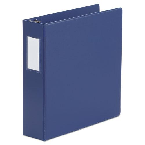 """Deluxe Non-View D-Ring Binder with Label Holder, 3 Rings, 2"""" Capacity, 11 x 8.5, Royal Blue. Picture 1"""