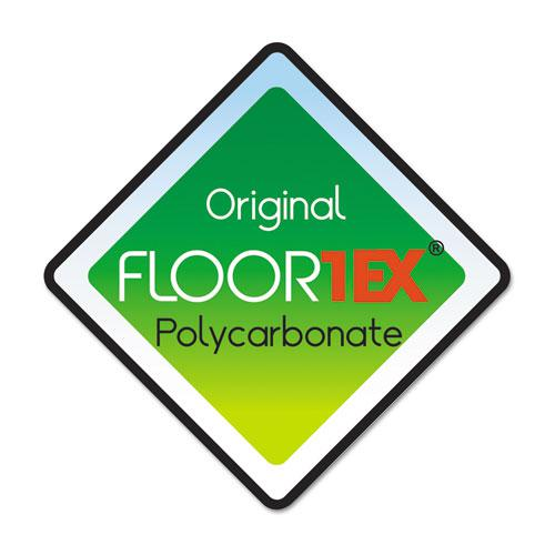 """Cleartex Ultimat Chair Mat, Clear Polycarbonate, For Low & Medium Pile Carpets (up to 1/2""""), Rectangular with Lip, Size 48"""" x 53"""". Picture 4"""