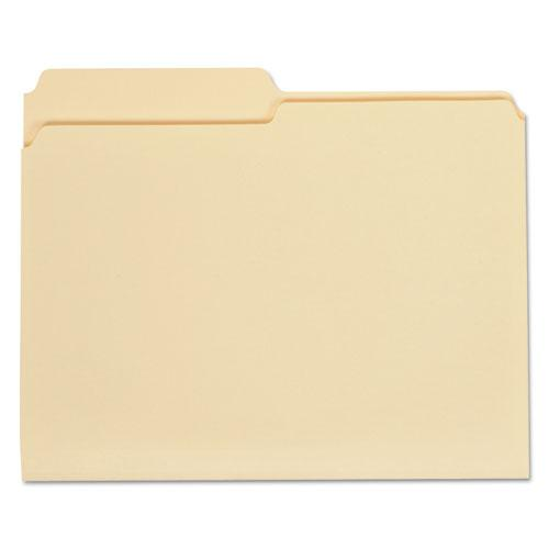 Top Tab Manila File Folders, 1/2-Cut Tabs, Assorted Positions, Letter Size, 11 pt. Manila, 100/Box. Picture 1