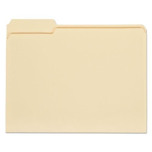 Top Tab Manila File Folders, 1/3-Cut Tabs, Assorted Positions, Letter Size, 11 pt. Manila, 100/Box. Picture 1
