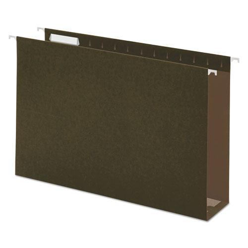Box Bottom Hanging File Folders, Legal Size, 1/5-Cut Tab, Standard Green, 25/Box. Picture 1