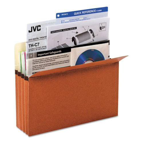"""Redrope Expanding File Pockets, 3.5"""" Expansion, Letter Size, Redrope, 25/Box. Picture 2"""