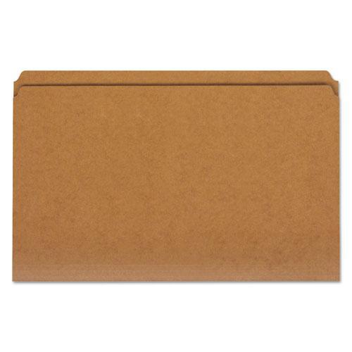Reinforced Kraft Top Tab File Folders, Straight Tab, Legal Size, Kraft, 100/Box. Picture 1