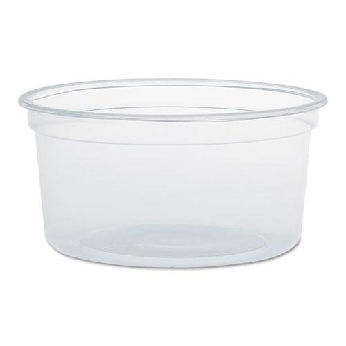 MicroGourmet Food Containers, 12 oz, Clear, 500/Carton. Picture 1