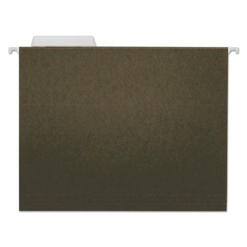 Hanging File Folders, Letter Size, 1/3-Cut Tab, Standard Green, 25/Box. Picture 1