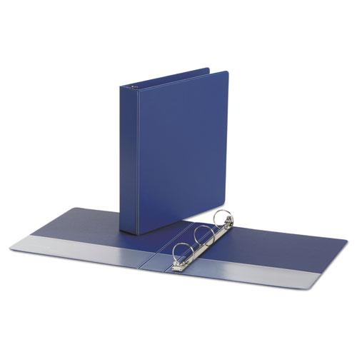 """Economy Non-View Round Ring Binder, 3 Rings, 1.5"""" Capacity, 11 x 8.5, Royal Blue. Picture 2"""