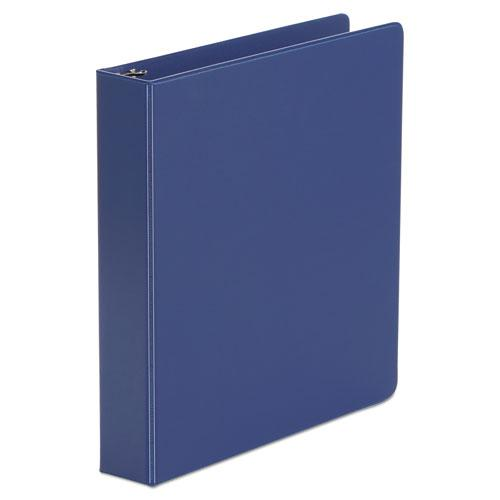 """Economy Non-View Round Ring Binder, 3 Rings, 1.5"""" Capacity, 11 x 8.5, Royal Blue. Picture 1"""