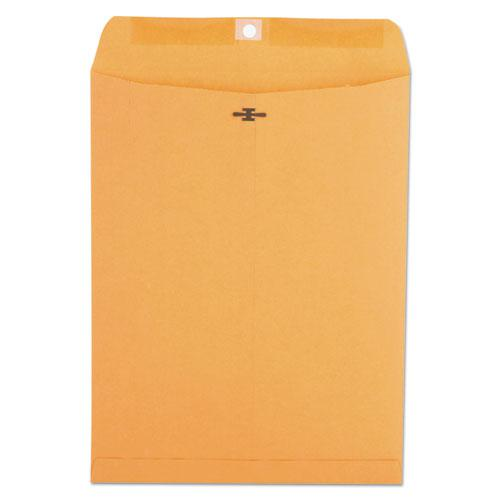 Kraft Clasp Envelope, #93, Square Flap, Clasp/Gummed Closure, 9.5 x 12.5, Brown Kraft, 100/Box. Picture 1
