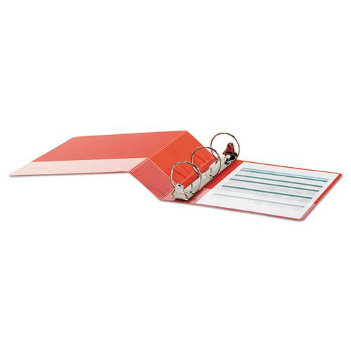"""Economy Non-View Round Ring Binder, 3 Rings, 3"""" Capacity, 11 x 8.5, Red. Picture 3"""