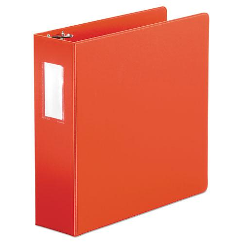 """Economy Non-View Round Ring Binder, 3 Rings, 3"""" Capacity, 11 x 8.5, Red. Picture 1"""