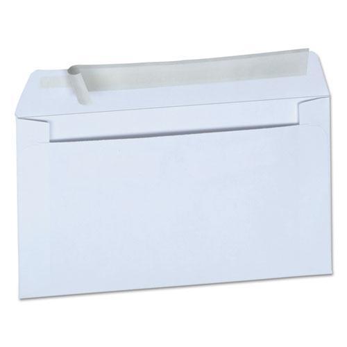 Peel Seal Strip Business Envelope, #6 3/4, Square Flap, Self-Adhesive Closure, 3.63 x 6.5, White, 100/Box. Picture 1