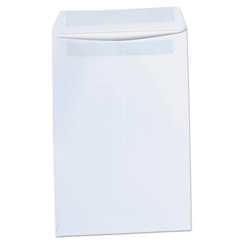 Self-Stick Open-End Catalog Envelope, #1, Square Flap, Self-Adhesive Closure, 6 x 9, White, 100/Box. Picture 1