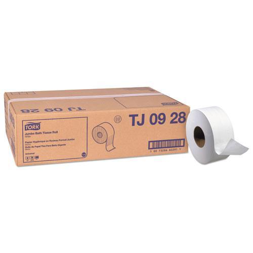 Universal Jumbo Bath Tissue, 2-Ply, White, 750 ft/Roll, 12 Rolls/Carton. Picture 1