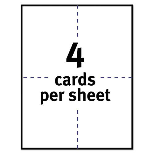 Postcards for Laser Printers, 4 1/4 x 5 1/2, Uncoated White, 4/Sheet, 200/Box. Picture 5