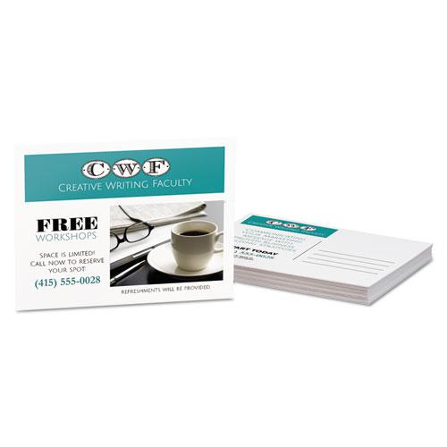 Postcards for Laser Printers, 4 1/4 x 5 1/2, Uncoated White, 4/Sheet, 200/Box. Picture 2