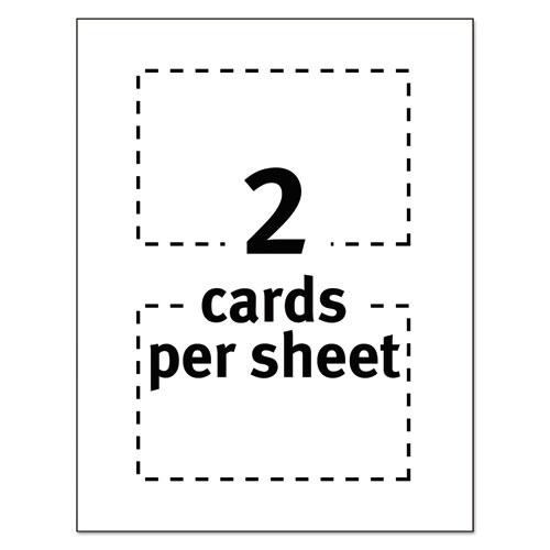 Postcards for Laser Printers, 4 x 6, Uncoated White, 2/Sheet, 100/Box. Picture 5
