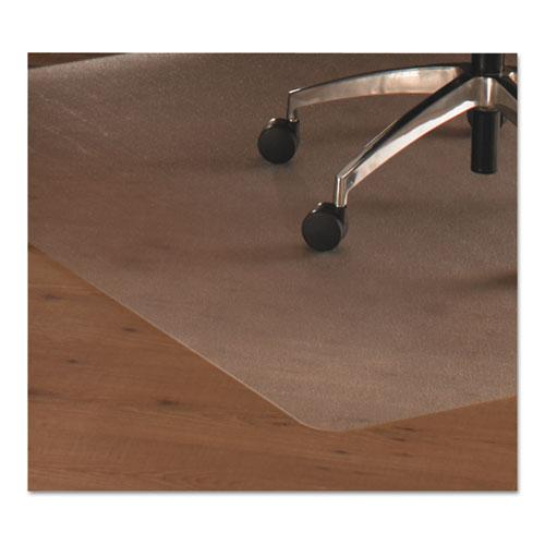 "Cleartex Ultimat Chair Mat, Rectangular With Lip, Clear Polycarbonate, For Hard Floor, Size 35"" x 47"". Picture 2"