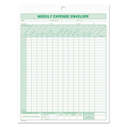 Weekly Expense Envelope, 8 1/2 x 11, 20 Forms. Picture 1