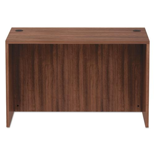"Alera Valencia Series Straight Front Desk Shell, 47.25"" x 29.5"" x 29.63"", Modern Walnut. Picture 2"