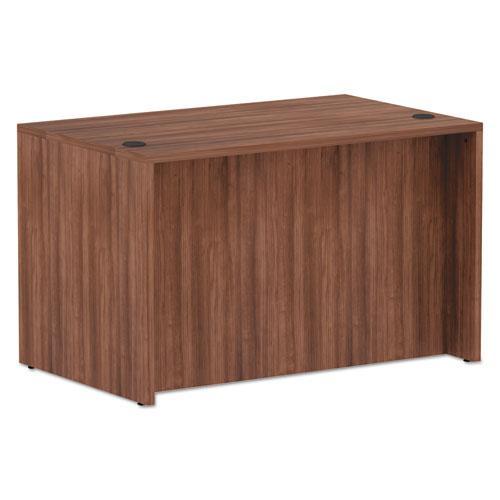"Alera Valencia Series Straight Front Desk Shell, 47.25"" x 29.5"" x 29.63"", Modern Walnut. Picture 3"