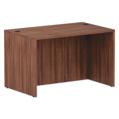 "Alera Valencia Series Straight Front Desk Shell, 47.25"" x 29.5"" x 29.63"", Modern Walnut. Picture 1"
