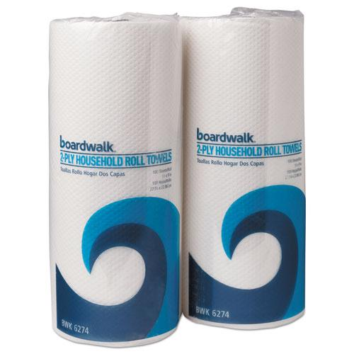 Kitchen Roll Towel, 2-Ply, 9 x 11, White, 100/Roll, 30 Rolls/Carton. Picture 1