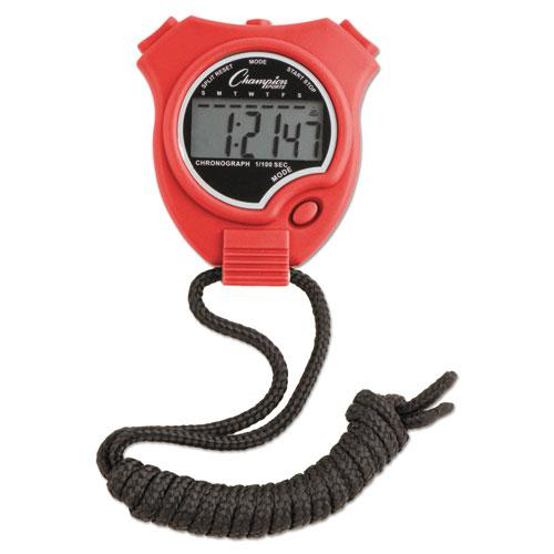 Water-Resistant Stopwatches, 1/100 Second, Assorted Colors, 6/Set. Picture 7