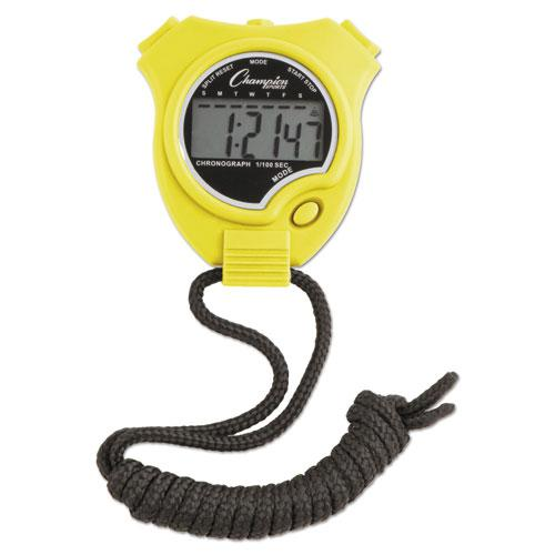 Water-Resistant Stopwatches, 1/100 Second, Assorted Colors, 6/Set. Picture 2