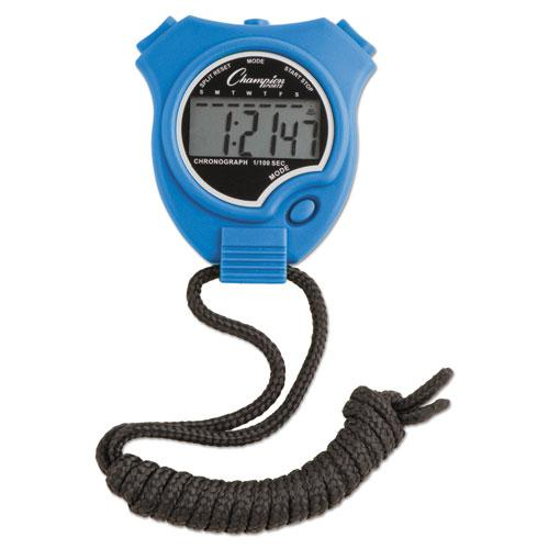 Water-Resistant Stopwatches, 1/100 Second, Assorted Colors, 6/Set. Picture 4