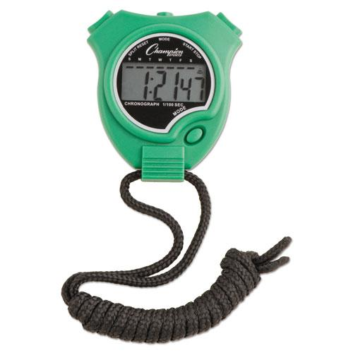 Water-Resistant Stopwatches, 1/100 Second, Assorted Colors, 6/Set. Picture 6