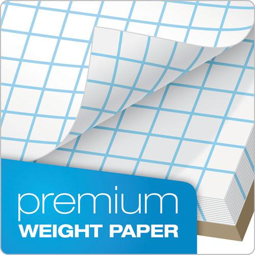 Quadrille Pads, 6 sq/in Quadrille Rule, 8.5 x 11, White, 50 Sheets. Picture 5