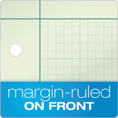 Engineering Computation Pads, 5 sq/in Quadrille Rule, 8.5 x 11, Green Tint, 100 Sheets. Picture 3