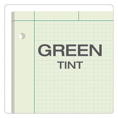 Engineering Computation Pads, 5 sq/in Quadrille Rule, 8.5 x 11, Green Tint, 100 Sheets. Picture 6