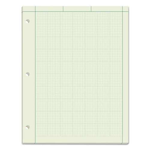 Engineering Computation Pads, 5 sq/in Quadrille Rule, 8.5 x 11, Green Tint, 100 Sheets. Picture 1