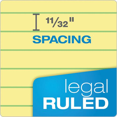 Docket Ruled Perforated Pads, Wide/Legal Rule, 8.5 x 14, Canary, 50 Sheets, 12/Pack. Picture 5