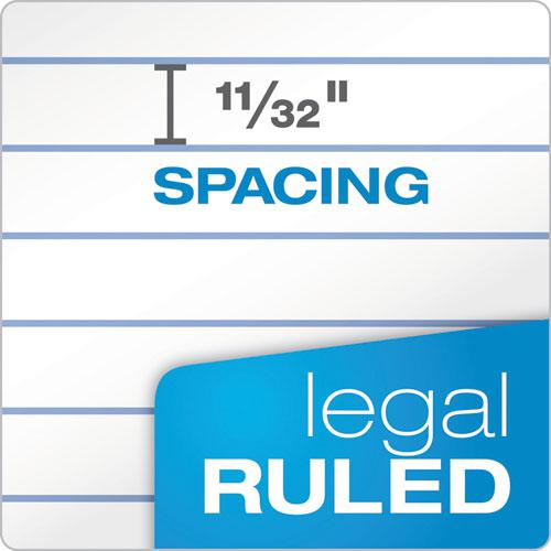 Docket Ruled Perforated Pads, Wide/Legal Rule, 8.5 x 11.75, White, 50 Sheets, 12/Pack. Picture 5