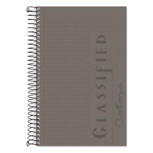 Color Notebooks, 1 Subject, Narrow Rule, Graphite Cover, 8.5 x 5.5, 100 Sheets. Picture 1