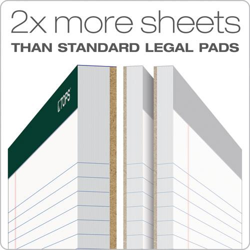 Double Docket Ruled Pads, Narrow Rule, 8.5 x 11.75, White, 100 Sheets, 4/Pack. Picture 2
